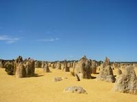 オーストラリアの砂漠 ピナクルズ